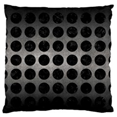 Circles1 Black Marble & Gray Metal 1 (r) Large Flano Cushion Case (two Sides) by trendistuff