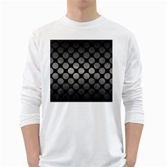 Circles2 Black Marble & Gray Metal 1 White Long Sleeve T Shirts by trendistuff