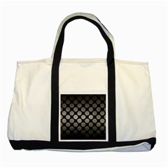 Circles2 Black Marble & Gray Metal 1 Two Tone Tote Bag by trendistuff