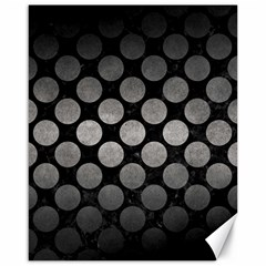 Circles2 Black Marble & Gray Metal 1 Canvas 16  X 20   by trendistuff