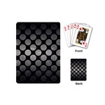 CIRCLES2 BLACK MARBLE & GRAY METAL 1 Playing Cards (Mini)  Back