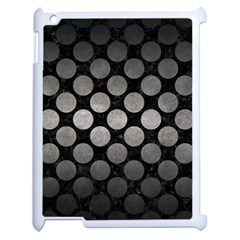 Circles2 Black Marble & Gray Metal 1 Apple Ipad 2 Case (white) by trendistuff