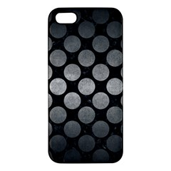 Circles2 Black Marble & Gray Metal 1 Apple Iphone 5 Premium Hardshell Case by trendistuff