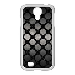 Circles2 Black Marble & Gray Metal 1 Samsung Galaxy S4 I9500/ I9505 Case (white) by trendistuff