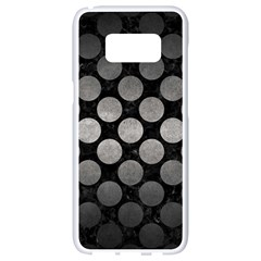 Circles2 Black Marble & Gray Metal 1 Samsung Galaxy S8 White Seamless Case