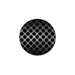 Circles2 Black Marble & Gray Metal 1 (r) Golf Ball Marker (4 Pack) by trendistuff