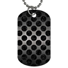 Circles2 Black Marble & Gray Metal 1 (r) Dog Tag (two Sides) by trendistuff