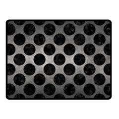 Circles2 Black Marble & Gray Metal 1 (r) Fleece Blanket (small) by trendistuff
