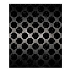 Circles2 Black Marble & Gray Metal 1 (r) Shower Curtain 60  X 72  (medium)  by trendistuff
