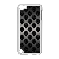 Circles2 Black Marble & Gray Metal 1 (r) Apple Ipod Touch 5 Case (white) by trendistuff