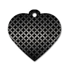 Circles3 Black Marble & Gray Metal 1 Dog Tag Heart (two Sides) by trendistuff