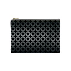Circles3 Black Marble & Gray Metal 1 Cosmetic Bag (medium)  by trendistuff
