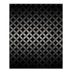 Circles3 Black Marble & Gray Metal 1 Shower Curtain 60  X 72  (medium)  by trendistuff