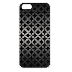 Circles3 Black Marble & Gray Metal 1 Apple Iphone 5 Seamless Case (white) by trendistuff
