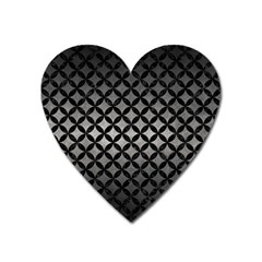 Circles3 Black Marble & Gray Metal 1 (r) Heart Magnet by trendistuff