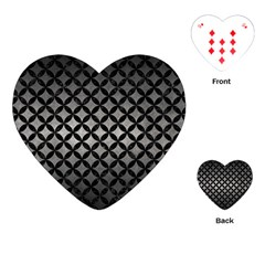 Circles3 Black Marble & Gray Metal 1 (r) Playing Cards (heart)  by trendistuff
