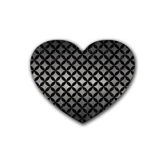 Circles3 Black Marble & Gray Metal 1 (r) Heart Coaster (4 Pack)  by trendistuff