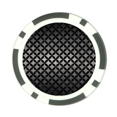 Circles3 Black Marble & Gray Metal 1 (r) Poker Chip Card Guard (10 Pack) by trendistuff