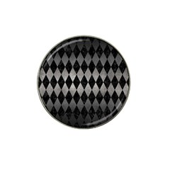 Diamond1 Black Marble & Gray Metal 1 Hat Clip Ball Marker (4 Pack) by trendistuff