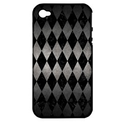 Diamond1 Black Marble & Gray Metal 1 Apple Iphone 4/4s Hardshell Case (pc+silicone) by trendistuff