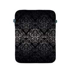 Damask1 Black Marble & Gray Metal 1 Apple Ipad 2/3/4 Protective Soft Cases by trendistuff