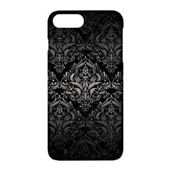Damask1 Black Marble & Gray Metal 1 Apple Iphone 7 Plus Hardshell Case by trendistuff