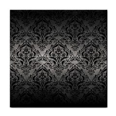 Damask1 Black Marble & Gray Metal 1 (r) Tile Coasters by trendistuff