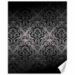 Damask1 Black Marble & Gray Metal 1 (r) Canvas 16  X 20   by trendistuff