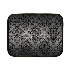 Damask1 Black Marble & Gray Metal 1 (r) Netbook Case (small)  by trendistuff