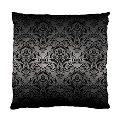 Damask1 Black Marble & Gray Metal 1 (r) Standard Cushion Case (two Sides) by trendistuff