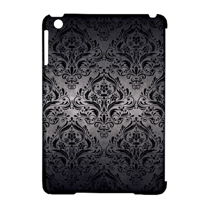 DAMASK1 BLACK MARBLE & GRAY METAL 1 (R) Apple iPad Mini Hardshell Case (Compatible with Smart Cover)