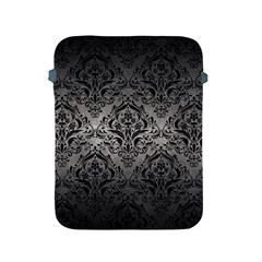 Damask1 Black Marble & Gray Metal 1 (r) Apple Ipad 2/3/4 Protective Soft Cases by trendistuff