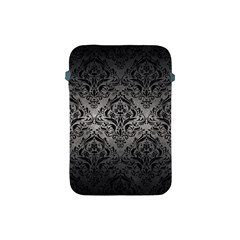 Damask1 Black Marble & Gray Metal 1 (r) Apple Ipad Mini Protective Soft Cases by trendistuff