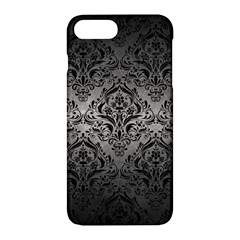 Damask1 Black Marble & Gray Metal 1 (r) Apple Iphone 7 Plus Hardshell Case by trendistuff