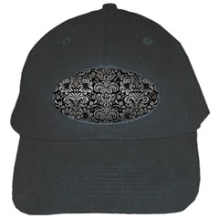 Damask2 Black Marble & Gray Metal 1 Black Cap by trendistuff