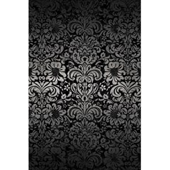 Damask2 Black Marble & Gray Metal 1 5 5  X 8 5  Notebooks by trendistuff