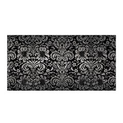 Damask2 Black Marble & Gray Metal 1 Satin Wrap by trendistuff