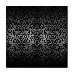 Damask2 Black Marble & Gray Metal 1 (r) Tile Coasters by trendistuff