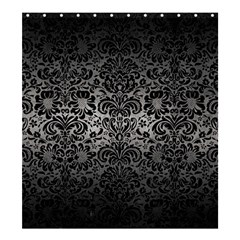 Damask2 Black Marble & Gray Metal 1 (r) Shower Curtain 66  X 72  (large)  by trendistuff