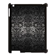 Damask2 Black Marble & Gray Metal 1 (r) Apple Ipad 3/4 Case (black) by trendistuff