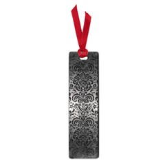Damask2 Black Marble & Gray Metal 1 (r) Small Book Marks by trendistuff