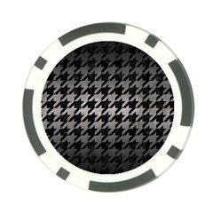 Houndstooth1 Black Marble & Gray Metal 1 Poker Chip Card Guard (10 Pack) by trendistuff