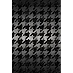 Houndstooth1 Black Marble & Gray Metal 1 5 5  X 8 5  Notebooks by trendistuff