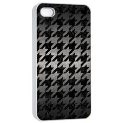 Houndstooth1 Black Marble & Gray Metal 1 Apple Iphone 4/4s Seamless Case (white) by trendistuff