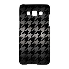 Houndstooth1 Black Marble & Gray Metal 1 Samsung Galaxy A5 Hardshell Case  by trendistuff