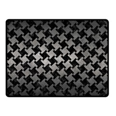Houndstooth2 Black Marble & Gray Metal 1 Double Sided Fleece Blanket (small)  by trendistuff