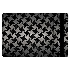 Houndstooth2 Black Marble & Gray Metal 1 Ipad Air Flip by trendistuff