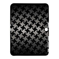 Houndstooth2 Black Marble & Gray Metal 1 Samsung Galaxy Tab 4 (10 1 ) Hardshell Case  by trendistuff