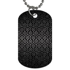 Hexagon1 Black Marble & Gray Metal 1 Dog Tag (two Sides)