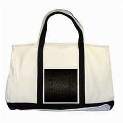 Hexagon1 Black Marble & Gray Metal 1 Two Tone Tote Bag by trendistuff
